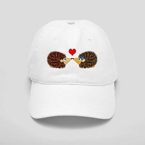 Cuddley Hedgehog Couple with Heart Cap