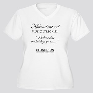Misunderstood Lyr Women's Plus Size V-Neck T-Shirt