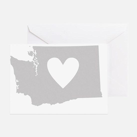 Heart Washington state silhouette Greeting Card