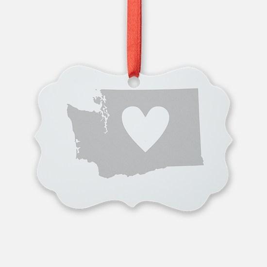 Heart Washington state silhouette Ornament