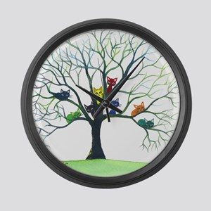 Eau Claire Stray Cats Large Wall Clock
