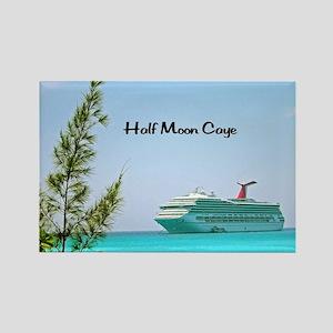 Half Moon Caye Rectangle Magnet