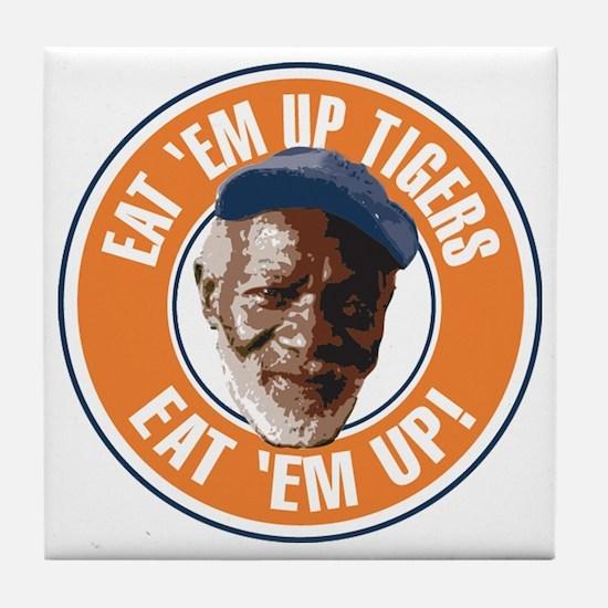Eat Em Up Tigers Tile Coaster