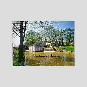 Metamora Indiana 5'x7'Area Rug
