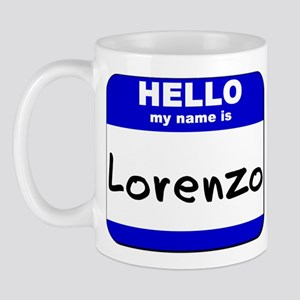 hello my name is lorenzo  Mug