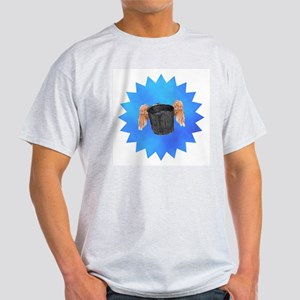 Blue Flying Bucket Light T-Shirt