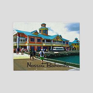 Nassau Bahamas 5'x7'Area Rug
