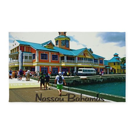Nassau Bahamas 3'x5' Area Rug