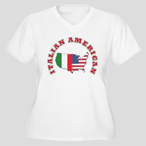Italian american Women's Plus Size V-Neck T-Shirt