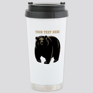 Big Bear with Custom Text. Stainless Steel Travel