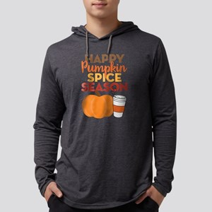 Happy Pumpkin Spice Season Mens Hooded Shirt