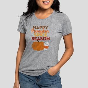 Happy Pumpkin Spice Seaso Womens Tri-blend T-Shirt