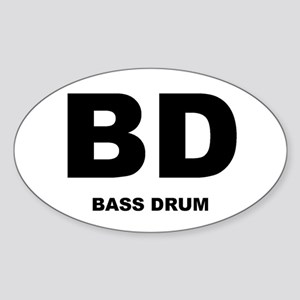 Bass Drum Oval Sticker
