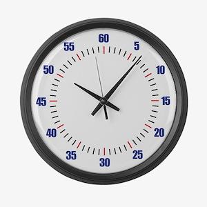 Swim Pace Large Wall Clock