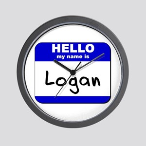 hello my name is logan  Wall Clock