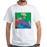 T-Rex Pole Vault White T-Shirt