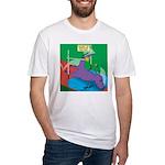 T-Rex Pole Vault Fitted T-Shirt
