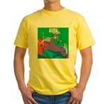 T-Rex Pole Vault Yellow T-Shirt