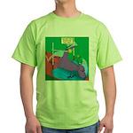 T-Rex Pole Vault Green T-Shirt