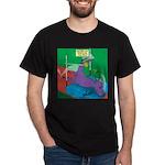 T-Rex Pole Vault Dark T-Shirt