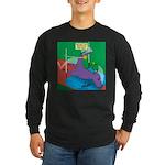T-Rex Pole Vault Long Sleeve Dark T-Shirt