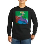 T-Rex Pole Vault Long Sleeve Dark T-Shirt