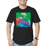 T-Rex Pole Vault Men's Fitted T-Shirt (dark)