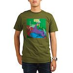 T-Rex Pole Vault Organic Men's T-Shirt (dark)