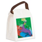 T-Rex Pole Vault Canvas Lunch Bag