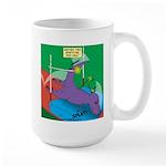 T-Rex Pole Vault 15 oz Ceramic Large Mug