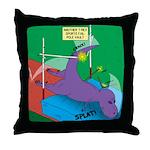 T-Rex Pole Vault Throw Pillow