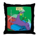 T-Rex Pole Vault Throw Pillow
