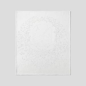 Arrrt White Throw Blanket