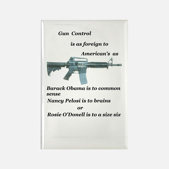 gun control obama,pelosi,rosie Rectangle Magnet