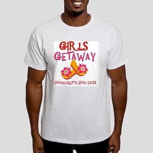 Girls Getaway Bachelorette Bash 2014 Light T-Shirt