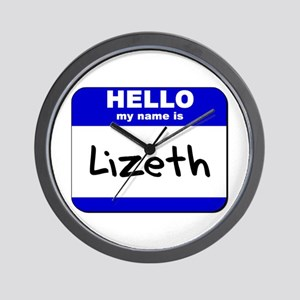 hello my name is lizeth  Wall Clock