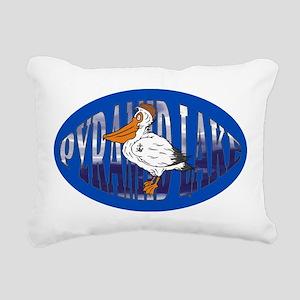 Pyramid Lake Pelican Rectangular Canvas Pillow