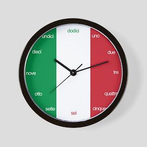Italian Language Wall Clock