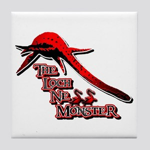Nessie Red Tile Coaster