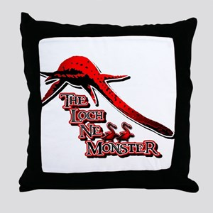 Nessie Red Throw Pillow