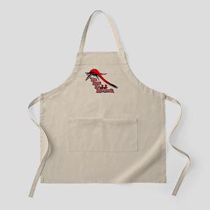 Nessie Red BBQ Apron