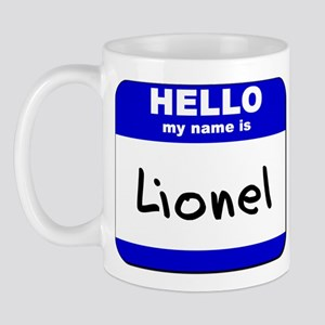hello my name is lionel  Mug