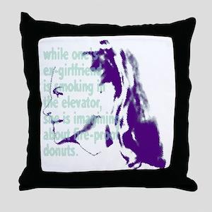 fuc_ex-girl Throw Pillow