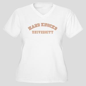 Hard Knocks University Women's Plus Size V-Neck T-