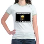 Shaken. Not Stirred Jr. Ringer T-Shirt