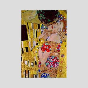 The Kiss detail, Gustav Klimt, Vi Rectangle Magnet