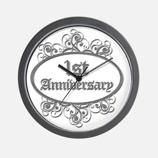 1st Aniversary (Engraved) Wall Clock