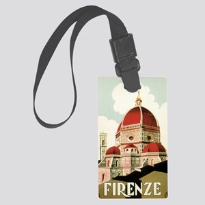 Vintage Firenze Italy Church Duo Large Luggage Tag