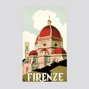 Vintage Firenze Italy Church D Sticker (Rectangle)