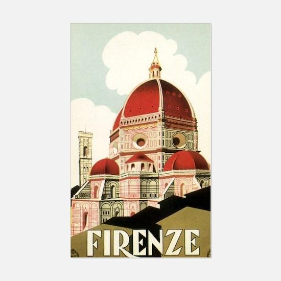 Vintage Firenze Italy Church D Sticker (Rectangle)